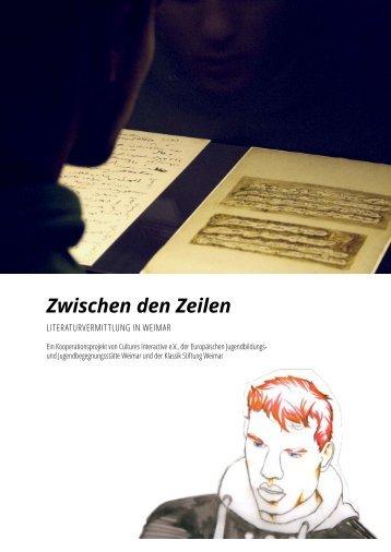 Projekthandbuch Zwischen den Zeilen - Klassik Stiftung Weimar