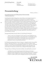 Pressemitteilung zur Auslobung des Architekturwettbewerbs