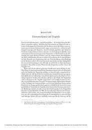 Existentialismus und Tragödie - Klassik Stiftung Weimar