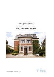 NIETZSCHE-ARCHIV - Klassik Stiftung Weimar