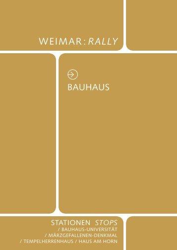 Tour Bauhaus - Klassik Stiftung Weimar