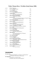 Walter Thomas Heyn - Werkliste (Stand Juli 2004) - Klassika