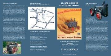 Traktor-Flyer - Bad Königer Klassikerfestival