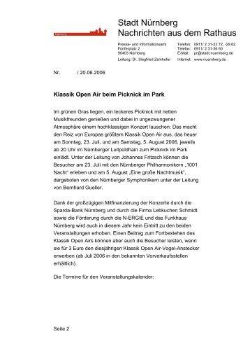 Allgemeine Informationen - Klassik Open Air