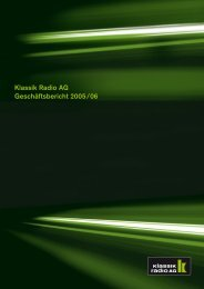 Klassik Radio AG Geschäftsbericht 2005/06
