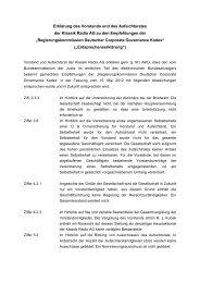PDF-Download der Entsprechenserklärung vom ... - Klassik Radio AG