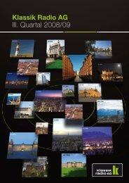Bericht zum III. Quartal 2008/09 - Klassik Radio AG