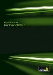 GJ 2005/06 - Klassik Radio AG