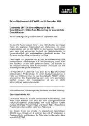Ad-hoc-Meldung nach §15 WpHG vom 25 ... - Klassik Radio AG
