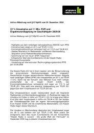 Ad-hoc-Mitteilung nach §15 WpHG vom 20 ... - Klassik Radio AG
