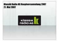 2005/06 - Klassik Radio AG