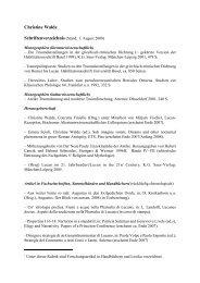 Christine Walde - Seminar für Klassische Philologie