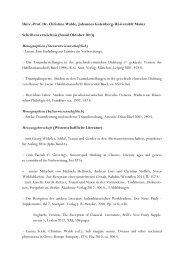 Schriftenverzeichnis - Seminar für Klassische Philologie - Johannes ...