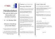 Heldenleben - Seminars für Klassische Philologie - Johannes ...