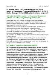HV-Bericht Klassik Radio AG 2009 von Beate Sander