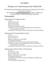 Lehrprogramm WS 2010/11