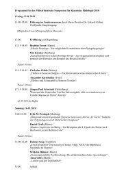 Programm für das Mittelrheinische Symposion für Klassische ...