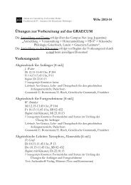 Lehrveranstaltungen - Seminar für Klassische Philologie - Johannes ...