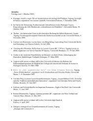 Verzeichnis gehaltener Vorträge - Johannes Gutenberg-Universität ...