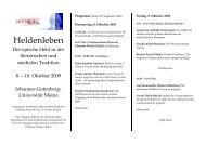 Heldenleben - Seminar für Klassische Philologie - Johannes ...