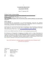 27. September 2012 Wichtige Termine zu Semesterbe - Seminar für ...