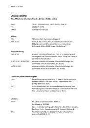 Curriculum vitae - Seminar für Klassische Philologie - Johannes ...