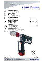 D Bedienungsanleitung GB Instruction Manual F Mode d'emploi I ...