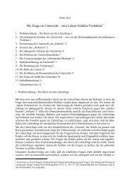 Die Frage im Unterricht – zum Lehrer-Schüler-Verhältnis* - Klaus Giel