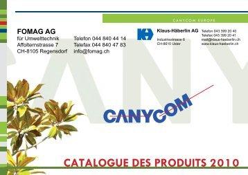 CATALOGUE DES PRODUITS 2010 - Klaus-Häberlin AG