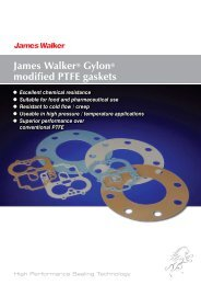 James Walker® Gylon® modified PTFE gaskets
