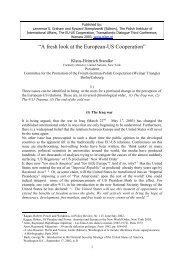 A fresh Look at Europe-US cooperation, 30.5.03 - Klaus-Heinrich ...