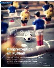 Propriozeption im Fußball Aktiver ... - Klaus-Poettgen