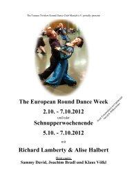 The European Round Dance Week 2.10. - 7.10 ... - Rumsdance.de