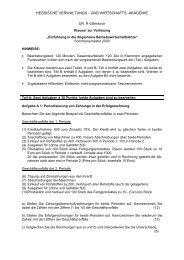 hessische verwaltungs - und wirtschafts -akademie - Klausurenpool
