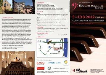 5.–19.8.2012Cochem - Klaviersommer Cochem