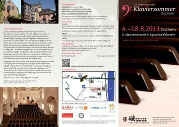 4.–18.8.2013Cochem - Klaviersommer Cochem