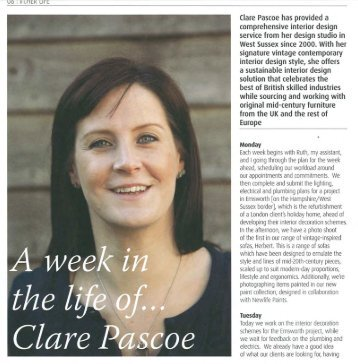 Clare Pascoe has provided a comprehensive interior design service ...