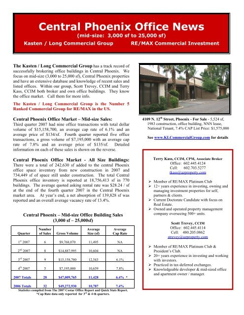 Central Phoenix Office News - Kasten Long Commercial Group