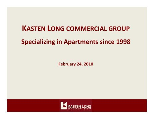 Apartment - Kasten Long Commercial Group