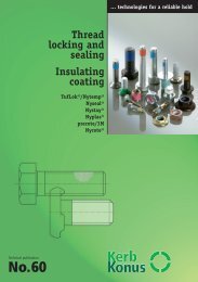Thread locking and sealing Insulating coating