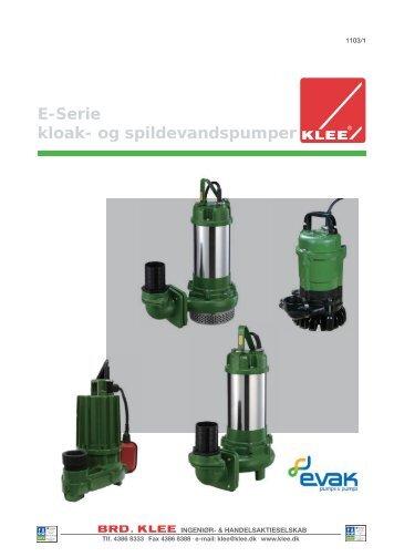 EVAK pumper type E katalog - Brd. Klee A/S