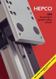 HPS Powerslide-2 guided rodless cylinder - Brd. Klee A/S