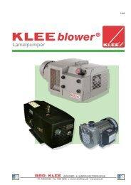 KLEEblower lamelpumper - Brd. Klee A/S