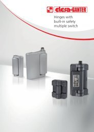 Hinges with built-in safety multiple switch