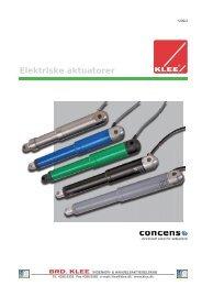 Concens aktuatorer - Brd. Klee A/S
