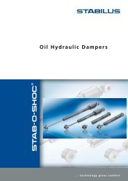 Brochure for Dampers - Stabilus