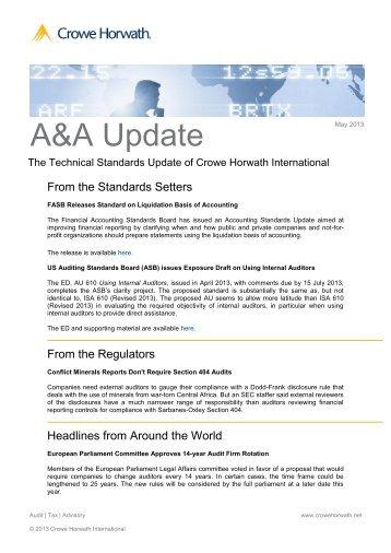 AA-Tech-Update 05-13 - Kleeberg