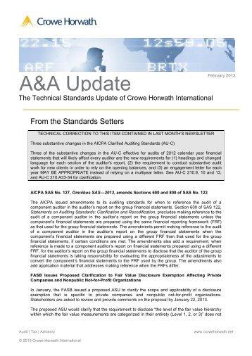 A&A Update - Kleeberg
