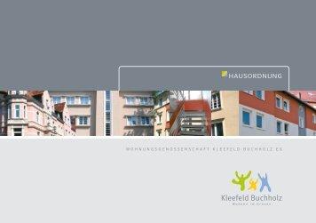 Hausordnung - Wohnungsgenossenschaft Kleefeld-Buchholz eG
