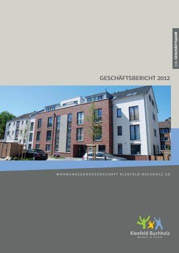 2012 - Wohnungsgenossenschaft Kleefeld-Buchholz eG